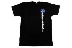 RallySport Direct Vertical T-Shirt Black Mens ( Part Number: 338)