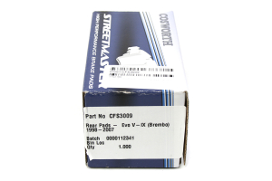 Cosworth Streetmaster Brake Pads Rear ( Part Number:COS1 CFS3009)