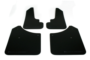 Rally Armor UR Mudflaps Black Urethane Grey Logo  ( Part Number: MF5-UR-BLK/GRY)