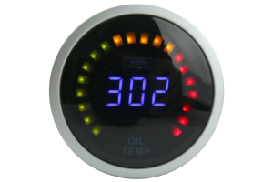 Prosport Digital Oil Temperature Gauge w/Sensor Blue 52mm ( Part Number: PSOTLCD-NEW.F)