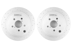 Hawk Quiet Slot Rear Rotor Pair ( Part Number: HUS739-GRP)