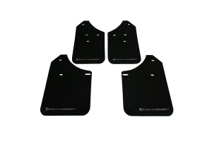 Rally Armor UR Mudflaps Black Urethane Silver Logo ( Part Number: MF1-UR-BLK/SIL)
