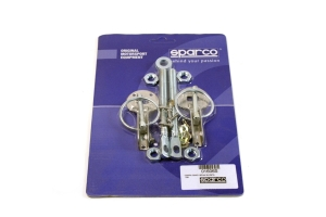 Sparco Hood Pins Silver Tuning ( Part Number: 01606S)