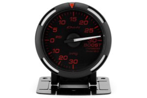 Defi Red Racer Boost Gauge Imperial 52mm 30 PSI White Needle ( Part Number:  DF06507)