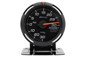 Defi White Racer Boost Gauge Imperial 52mm 30 PSI ( Part Number:  DF06503)