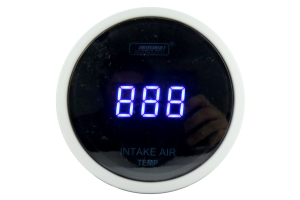 ProSport Digital Intake Temperature Gauge w/Sender Blue 52mm ( Part Number: PSSITLCD-BL.F)