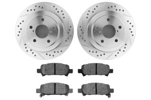 Hawk Performance Rotors w/ HPS 5.0 Pads Kit Rear ( Part Number: HK5139.434B)