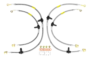 GoodRidge G-Stop Stainless Steel Brake Lines Front/Rear ( Part Number: 20018-CL)