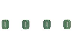KICS Leggdura Racing Green Valve Cap ( Part Number: WCKIVM)