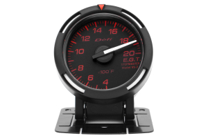 Defi Red Racer EGT Exhaust Gas Temperature Gauge Imperial 52mm 400-2000F White Needle ( Part Number: DF06807)