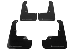 Rally Armor UR Mudflaps Black Urethane Silver Logo ( Part Number:  MF32-UR-BLK/SIL)