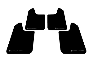 Rally Armor Universal UR Mudflaps Black Urethane Grey Logo  ( Part Number: MF12-UR-BLK/GRY)