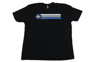 RallySport Direct Stripes Black Premium T-Shirt Large ( Part Number: 40303)