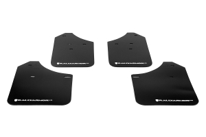 Rally Armor UR Mudflaps Black Urethane White Logo ( Part Number: MF1-UR-BLK/WH)
