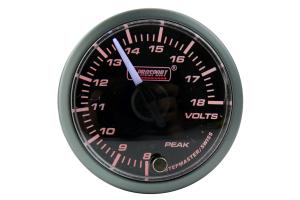 Prosport Volt Gauge Electrical Amber/White 52mm ( Part Number: 216SMWAVOWNCL270-PK)