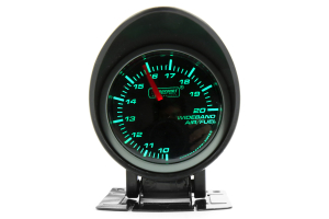 ProSport Wideband Air Fuel Ratio w/O2 Sensor Green/White 52mm ( Part Number: 216SMWGAFR-WO-SF)