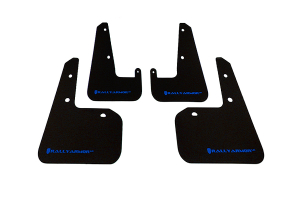 Rally Armor UR Mudflaps Black Urethane Blue Logo ( Part Number: MF19-UR-BLK/BL)