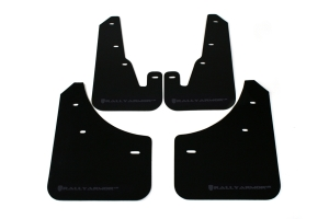 Rally Armor UR Mudflaps Black Urethane Grey Logo  ( Part Number: MF9-UR-BLK/GRY)