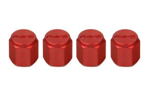 Volk Racing Rays Valve Stem Caps Red ( Part Number:  WVALRD2)