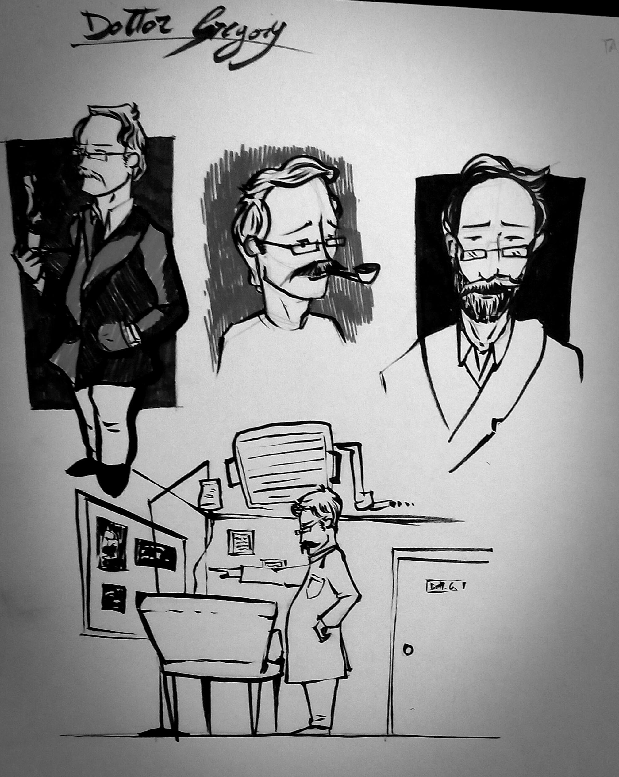 Sketch dr Gregory Marlow