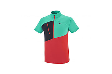 Alpinisme - Tee-shirt homme - Rouge ELEVATION ZIP SS