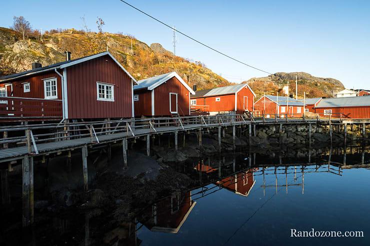 Maisons typiques des Lofoten à Nusfjord