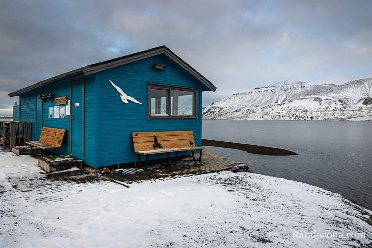 Cabane au port de Longyearbyen
