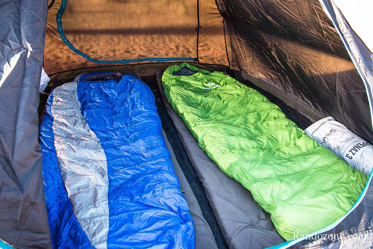 Test du sac de couchage Sea to summit Latitude LT II