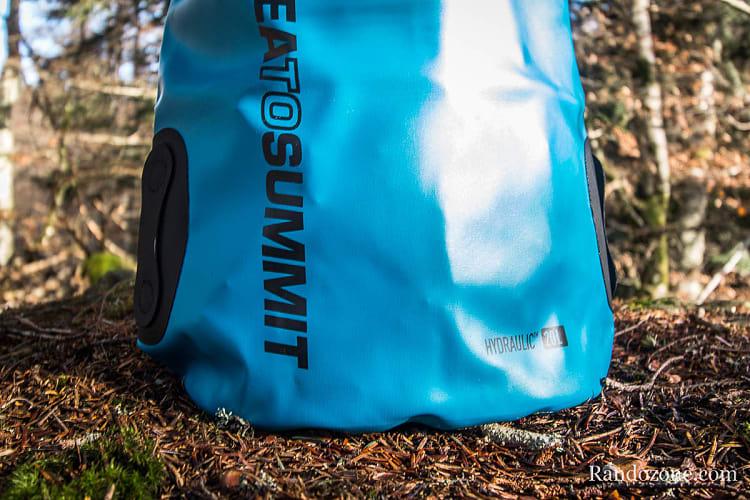 Test du sac Sea to summit Hydraulic Dry Bag
