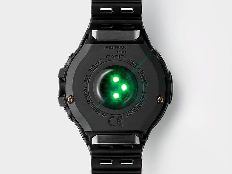 Capteur cardio de la montre Casio Protrek F21HR