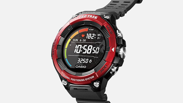 Montre Casio Protrek F21HR couleur rouge
