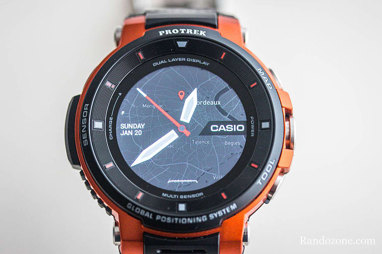 Cadran Voyagede la montre Casio Protrek F30