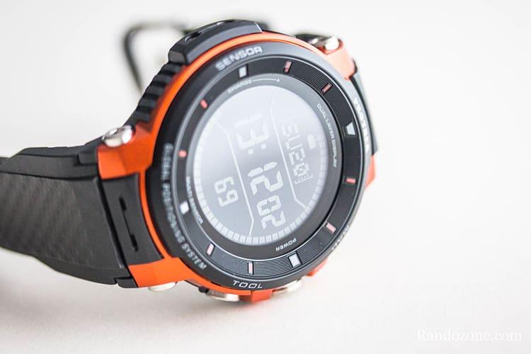 L'écran de la montre Protrek F30 au repos