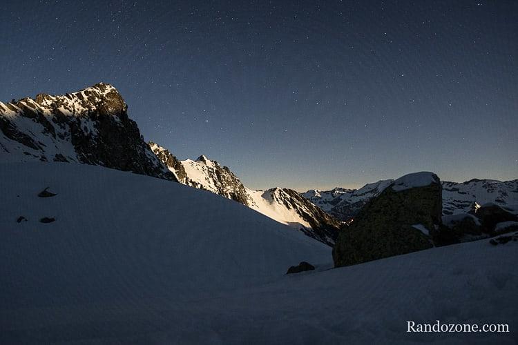 Coucher du soleil sur le massif du Néouvielle