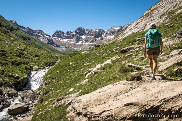 Randonnée pédestredans les Pyrénées