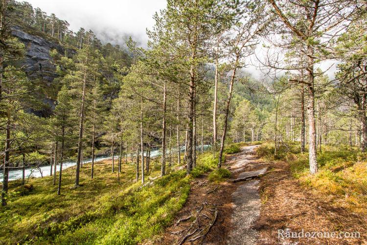 Sentier de randonnée en Norvège