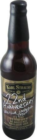 Karl Strauss 22nd Anniversary Vanilla Imperial Stout - Imperial Stout