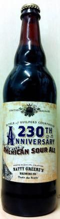 Natty Greenes 230th Anniversary Oak Aged American Sour Ale - Sour Red/Brown