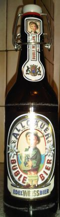 Allguer Bble Bier Edel Weissbier - German Hefeweizen