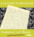 Ramsbottom A Letter To Belgium - Belgian Ale