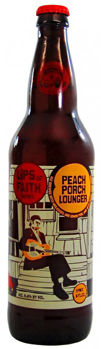 New Belgium Lips of Faith - Peach Porch Lounger - Saison