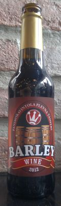 Plevnan Barley Wine 2012 &#40;sherry aged&#41; - Barley Wine