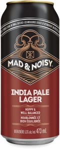 Mad & Noisy Hops & Bolts India Pale Lager - Strong Pale Lager/Imperial Pils