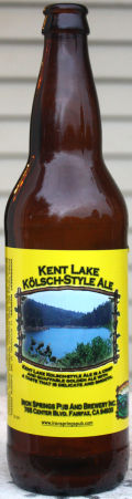 Iron Springs Kent Lake Kolsch - Klsch
