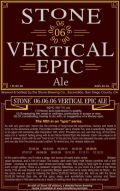 Stone 06.06.06 Vertical Epic Ale - Abbey Dubbel