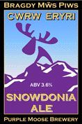 Purple Moose Snowdonia Ale / Cwrw Eryri - Bitter