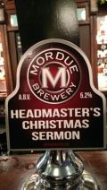 Mordue Headmasters Christmas Sermon - Premium Bitter/ESB