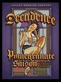 Valley Brew Decadence Pomegranate Saison - Fruit Beer