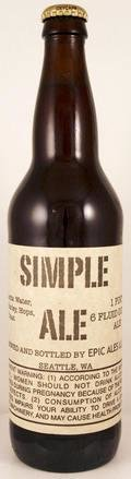 Epic Ales Simple Ale