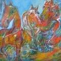 Hornbeer Biting Horse